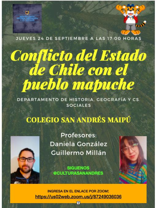 Conflicto del Estado de Chile con el Pueblo Mapuche: 24 Septiembre – 5PM